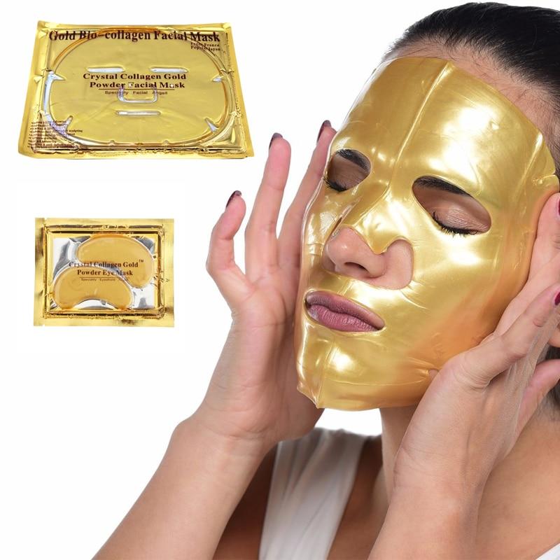 24K Gold Bio Collagen Face Lip Mask Wrinkle Tired Feet Puffy Eye Treatment