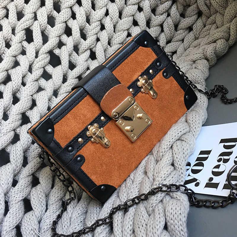 Сумка-мессенджер из искусственной кожи, винтажная, с цепочкой