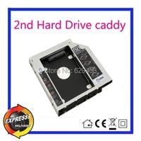 Segundo sata hdd adaptador del carrito del disco duro para dell vostro 3350 dvd portátil envío gratis