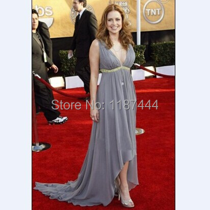 8e508bc3ca6 Jenna Fischer Grey Prom Dress 2009 SAG Awards Red Carpet Gown Evenging  dresses Celebrity Gowns-in Celebrity-Inspired Dresses from Weddings    Events on ...