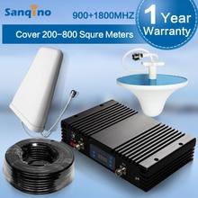 Sanqino 70dBi AGC MGC GSM 900Mhz DCS 1800MHz Dual Band Signal Booster GSM DCS Mobile Phone Signal Repeater GSM 900 1800 Repeater