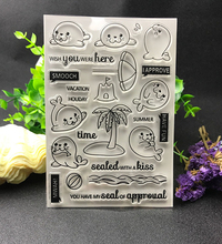 Sea lion Transparent Clear Silicone Stamp/Seal for DIY scrapbooking/photo album Decorative clear stamp sheets