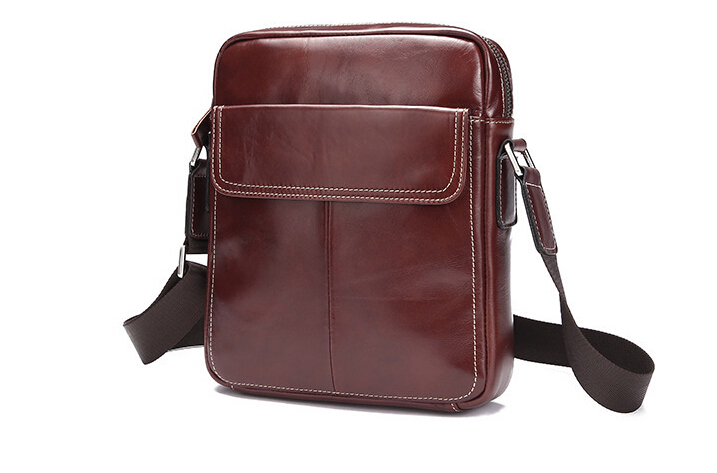 High Quality Real Genuine Leather Men Messenger Bags Small Shoulder Bags Crossbody Bag Small Men's Leather Handbag Briefcases