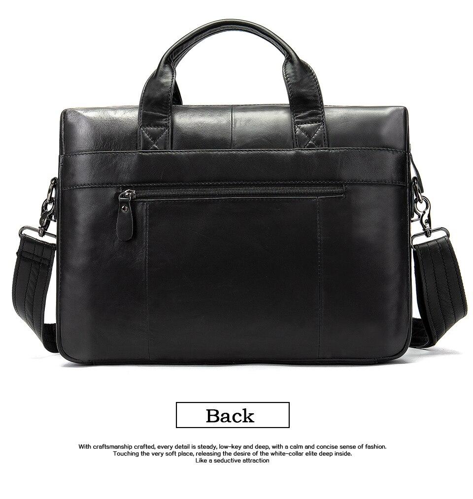 HTB1segtbcrrK1RjSspaq6AREXXaJ WESTAL genuine leather bag for men's briefcase bussiness laptop bags for documents messenger handbags tote briefcase 9005