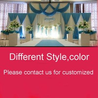 UPS DHL 페덱스 무료 배송 무대 배경막 장식 웨딩 커튼 swags 로맨틱 화이트 핑크