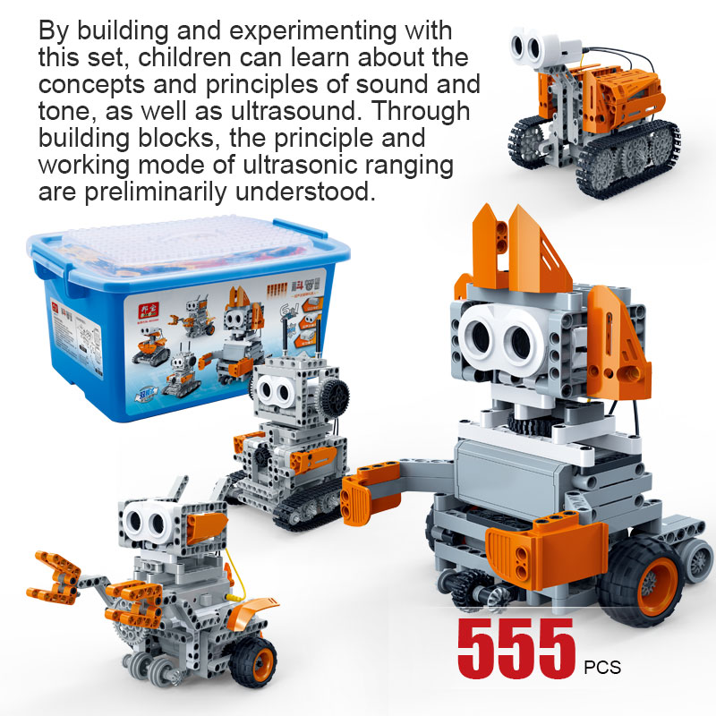 BanBao 6917 6 In 1 Robot Ultrasonic Control Obstacle Avoidance Bricks