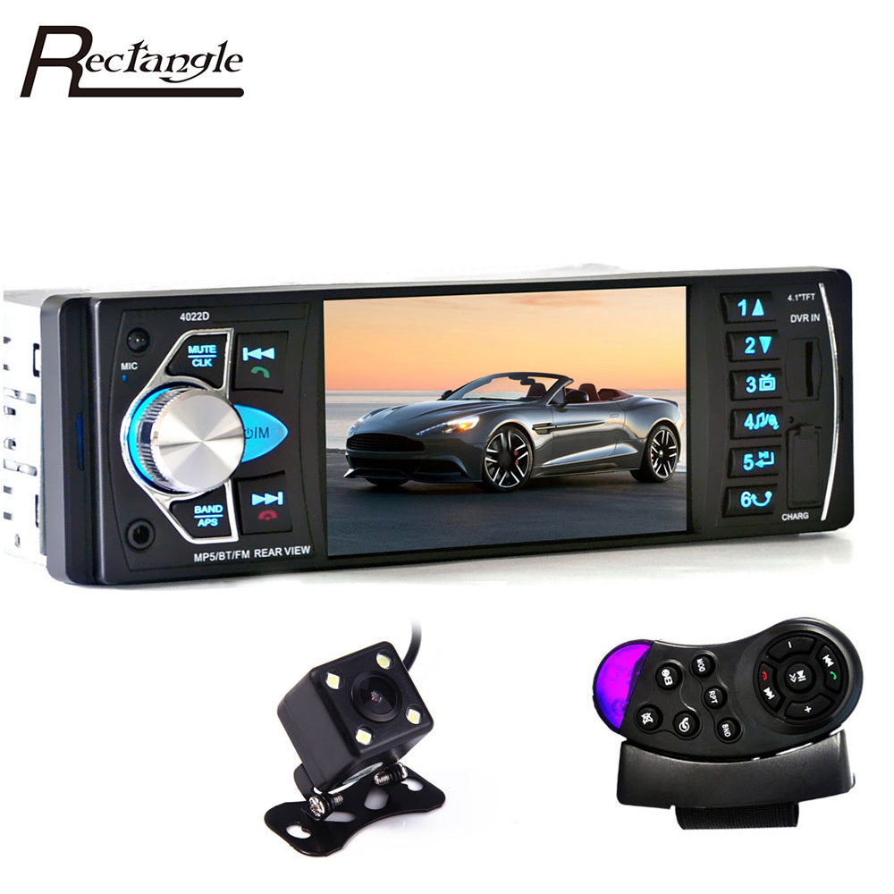 4022D 1Din Car MP5 Video Player Auto Radio Audio Stereo FM Bluetooth TFT Screen with Rear