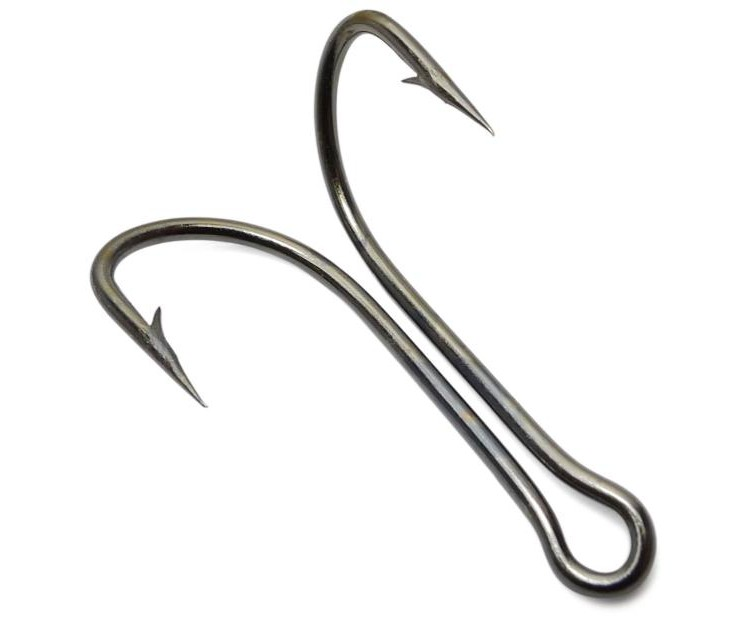 100pcs high carbon steel fishhook 9908 limerick double for Fishing hook sizes