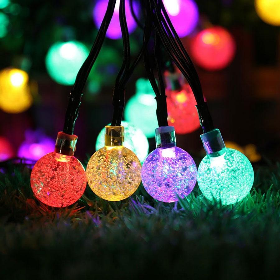 Outdoor Christmas Tree Lights Solar Powered