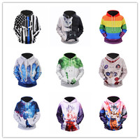 large size 3d hooded sweater starry sky Dragon Ball Wukong muscle male hoodie long sleeved sweater couple bone shirt