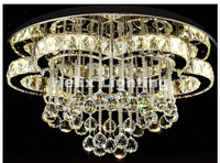 Free Shipping Modern Celling Lamp K9 Clear Crystals LED Crystal Ceiling Lamp AC Lights Home Decoration