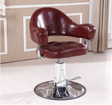 Upscale Hairdressing Chair Adjustable Pedal Barber Chair Special Hair Salon Chair Lift
