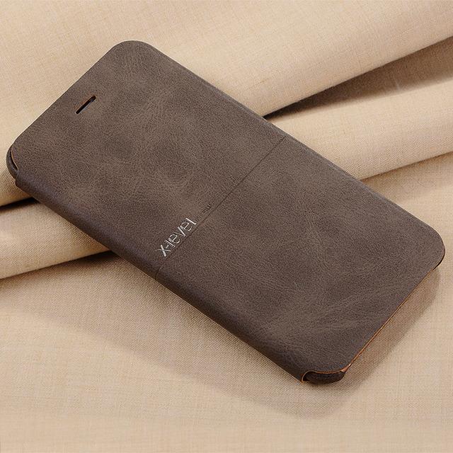 X nivel nostalgia vaquero de lujo ultra delgada de cuero de la pu caja del teléfono del tirón para el iphone 6 6 s, cubierta de cuero del soporte para el iphone 6 6 s