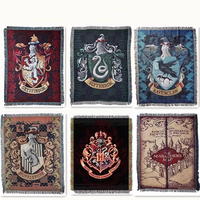 115x150cm Badge Harri Potter Flag Gryffindor Slytherin Hufflerpuff Ravenclaw Carpet Toy Party Action Figure