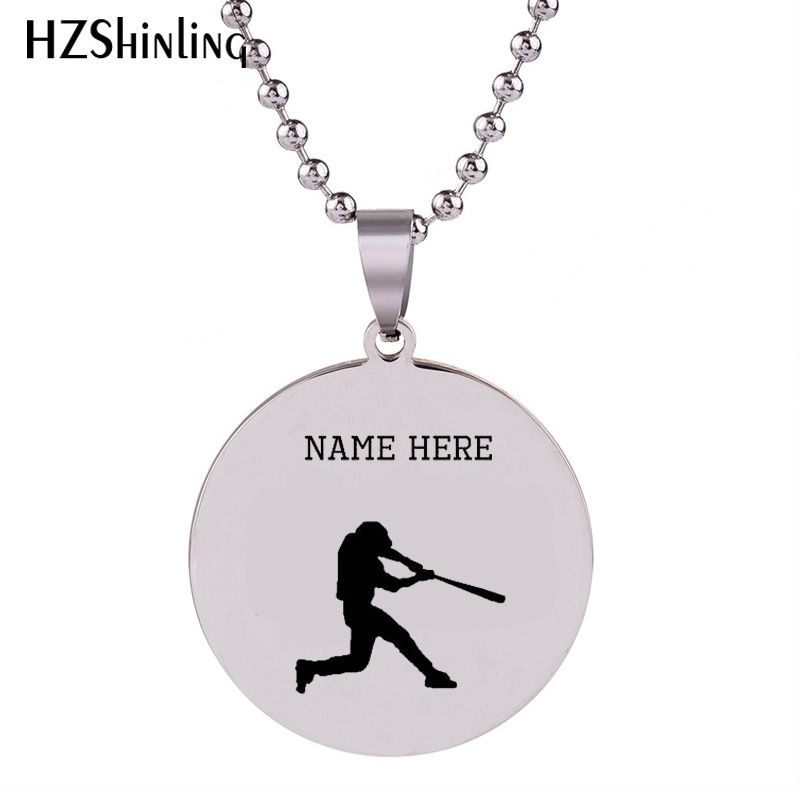 2018 New Baseball Stainless Steel Necklace Athlete Pendant