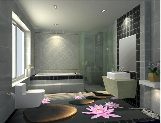 3d Stereoscopic Wallpaper Vinyl Flooring Sun Pebbles Stone Waterproof For Bathroom Floor