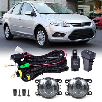 beler New Wiring Harness Sockets + Switch + 2 Fog Lights H11 Lamp 12V on
