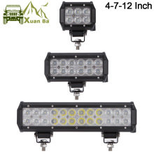 XuanBa 12″ inch 72W Led Light Bar For ATV 4×4 Offroad 18W Work Trucks 4WD Auto DRL 12V Focos Off road Motorcycle 36W Barra Light