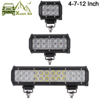XuanBa 4 Inch Mini 18W Led Work Light Bar For Motorcycle Driving 4x4 Offroad Tractor Truck