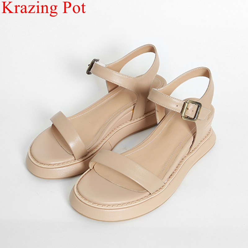 2018 new fashion peep toe elegant brand summer shoes genuine leather wedge women sandals sweet high heels office lady shoes L09 недорго, оригинальная цена