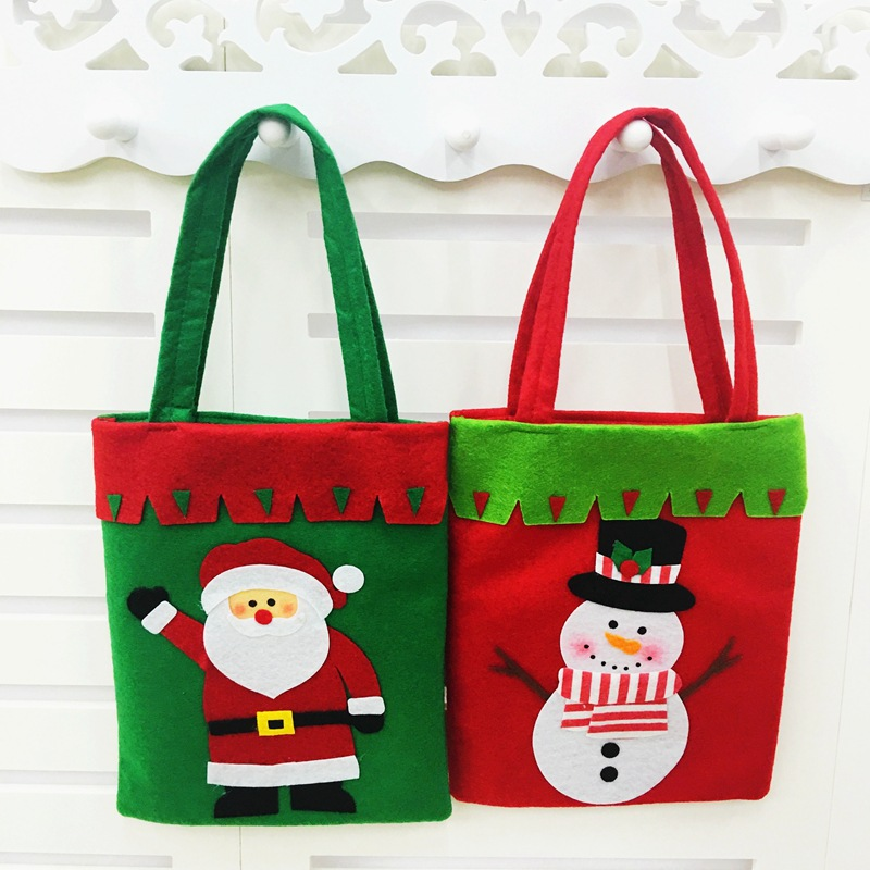 Promotions Christmas Decoration Candy Bag Book Bag Christmas Gift Bag Thicken Handmade Sewing Christmas Gift Bag