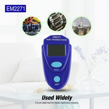 ACEHE New EM2271 Mini Coating Digital Painting Thickness Tester Meter Mini LCD Automotive Data Hold Car Coating Thickness Gauge