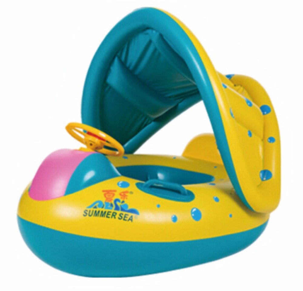 Inflatable Round Toddler Baby Ring Swimming Pool Accessories float ...
