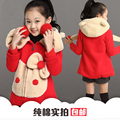NEW Retail Fashion Girls Clothes Cartoon Bow Coats Female child autumn and winter outerwear thickening winter Girls jackets