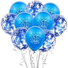 1st Birthday Party Decoration Kids Balloons First Birthday Baloons 1 One Year Old Kids Favors Baby Shower Birthday Balloons