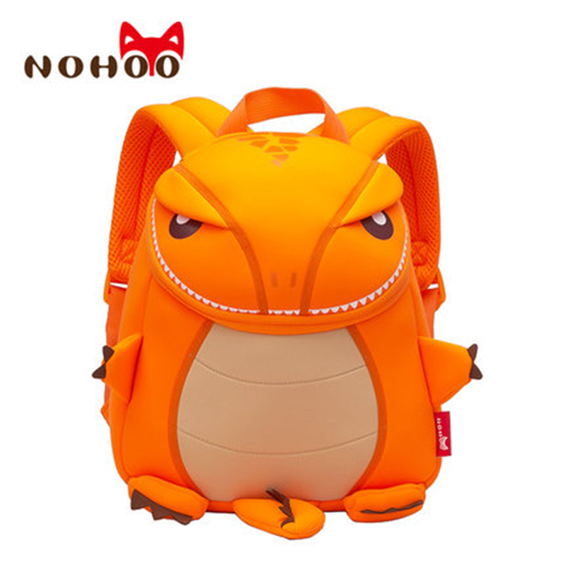 NOHOO Dragon 3D Animals Children School Bags Waterproof Cartoon Kids Backpack School Kids Baby Bags Mochila Escolar nohoo waterproof cute cats animals baby backpack kids toddler school bags for girls children school bags kids kindergarten bag