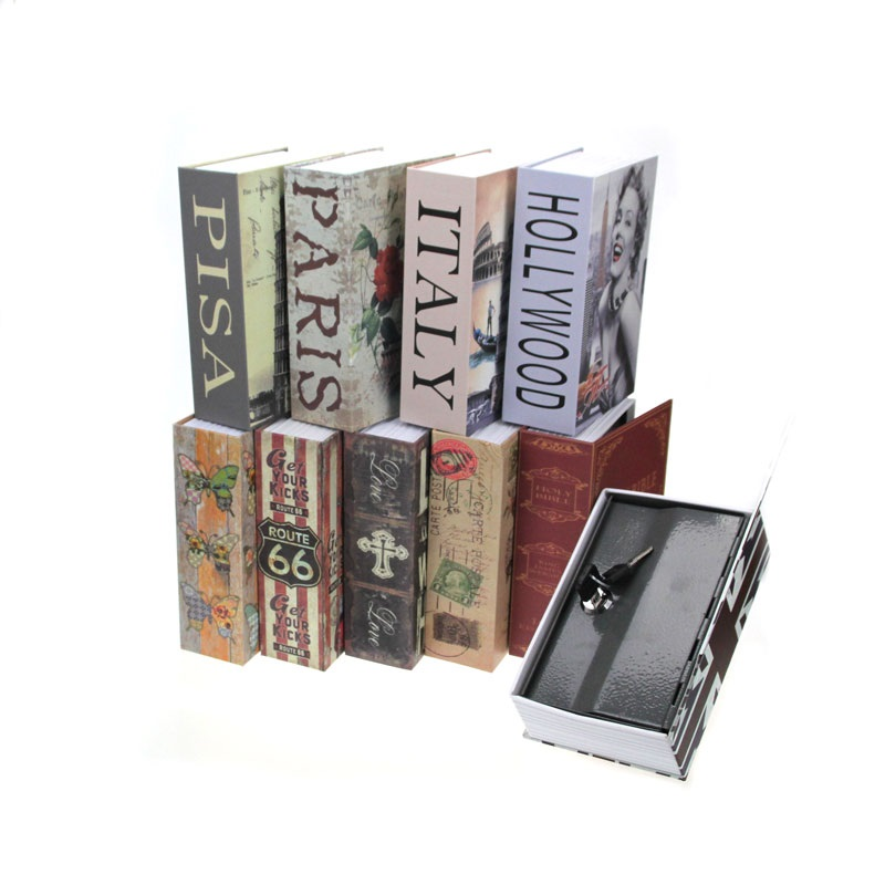 Secret Book Hidden Piggy Bank Security Safe Key Lock Cash Money Locker Box 18*11.5*5.5CM