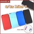 Nueva cubierta colorida para iphone 6 6 s como 7 aluminio de Metal de La Batería Caja Trasera Cubierta de La Puerta de Reemplazo Como i7 estilo