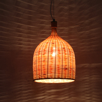 Restaurant pendant light series bamboo pendant light lamps bamboo lamp cover bamboo lamp