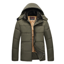Winter Jacket Hoodies Men Zipper Male Coat Casual Thick Outwear Guy Fashion Stylish Clothing Down Parkas RAA0621