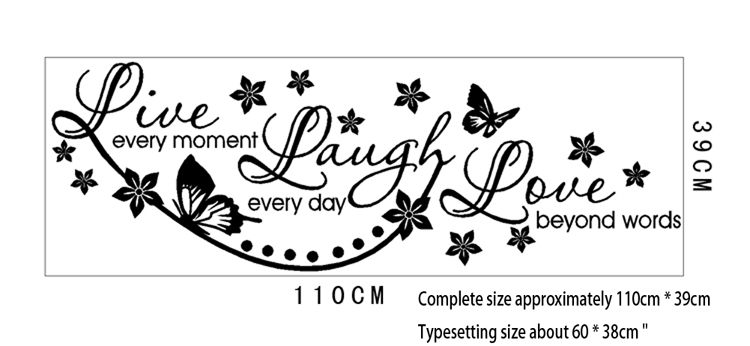 Elegant Vinyl Live Laugh Love Wall Art Sticker Lounge Room Quote Decal Mural  Stencil Diy Decor Living Room Bedroom Office HG WS 1535 In Wall Stickers  From Home ...
