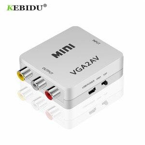 Image 2 - KEBIDU HD מיני VGA כדי AV RCA אודיו ממיר VGA2AV/CVBS מתאם עם 3.5mm עבור מחשב לטלוויזיה HD מחשב לטלוויזיה VGA ל AV ממיר