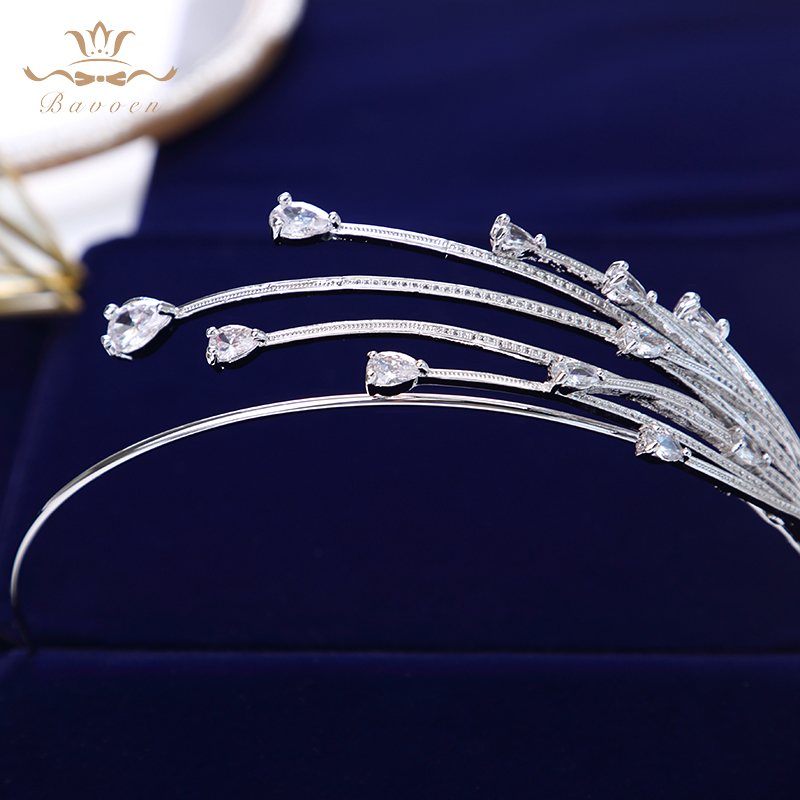 Image 3 - High end Shinny Irregular Zircon Crystal Brides Tiara Crowns 