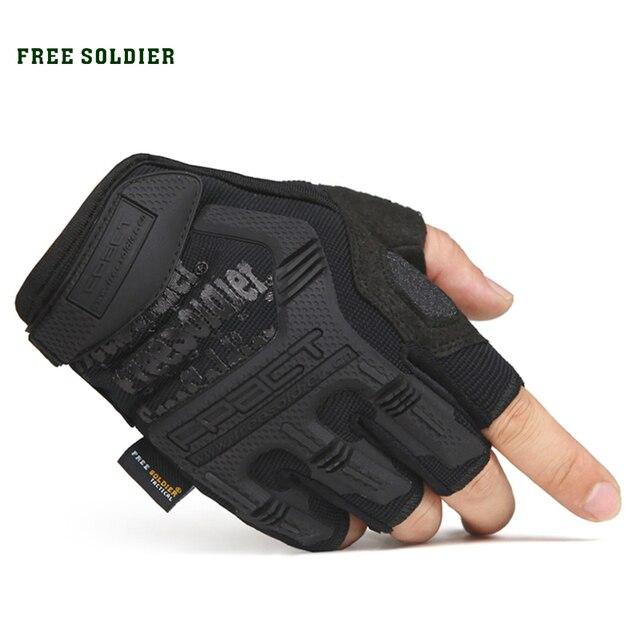 FREE SOLDIER мужские тактические перчатки, износостойкие воздухопроницаемые противоскользящие для велосипеда, подъема на гору, активного спорта