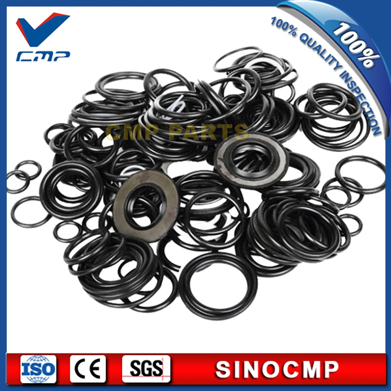 SK220-8 control valve service seal kit, repair seals for Kobelco excavator rubber oil seal  , 3 month warranty