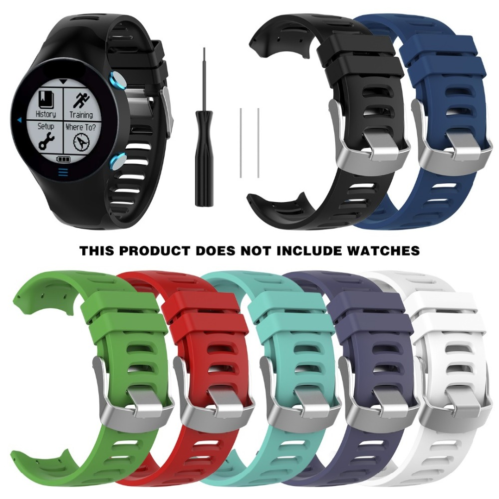 Silicone Wristband Watch Band Wrist Strap Replacement For Garmin Forerunner 610 Bracelet Sport Band For Garmin Forerunner 610