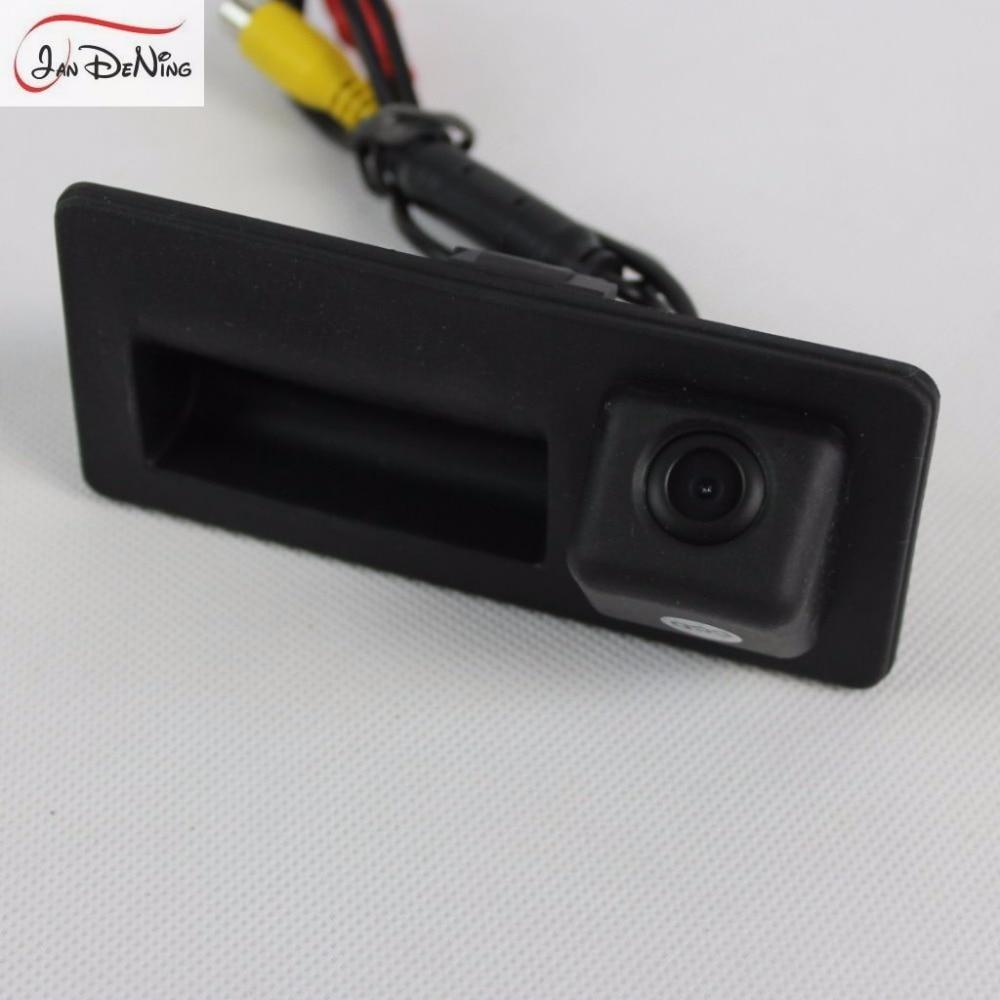 JanDeNing HD voiture vue arrière Parking/caméra de recul/poignée de coffre OEM pour VolksWagen Passat LingYu Sagitar Sharan 2009-2014