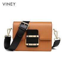 Viney กระเป๋า 2019 ใหม่ Slant กระเป๋า ins ร้อนกระเป๋าหนังกระเป๋าสไตล์เกาหลีเรียบง่าย Baitao ไหล่เดี่ยวกระเป๋า