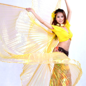 Image 4 - คุณภาพสูงขายส่ง belly dance ผู้หญิง Belly Dance โปร่งแสงปีกหญิง isis ปีก Dance สำหรับ Props Lady Dance ผ้า