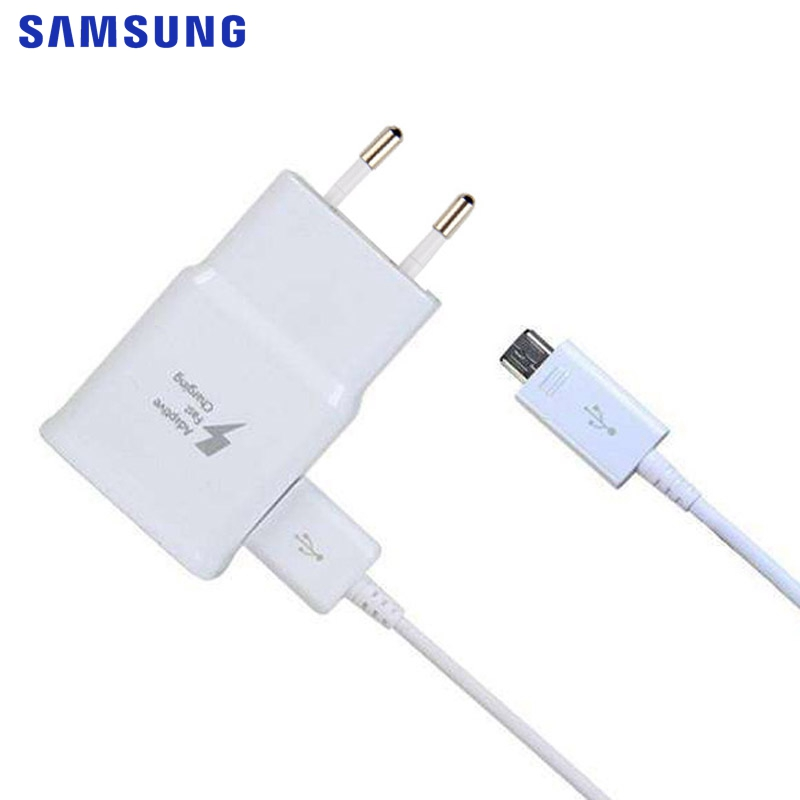 <font><b>SAMSUNG</b></font> Original Fast <font><b>Charger</b></font> EP-TA20EWE for <font><b>Samsung</b></font> <font><b>Galaxy</b></font> J3 J5 J7 Note 4 5 A3 S4 5 A5 <font><b>A7</b></font> 2016 Quicker Charging Adapter Micro image