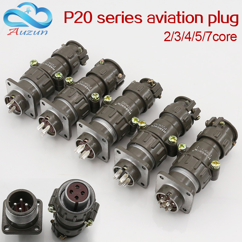 Aviation plug socket round connector P20 series 2.3.4.5.7core diameter 20MM aviation plug y2m series 21mm y21m fast buckle aviation cable connector plug male