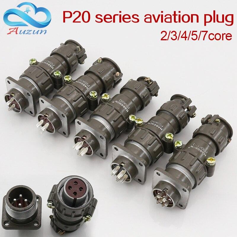 Wtyczka lotnicza gniazdo okrągłe złącze P20 serii 2.3.4.5.7core średnica 20MM wtyczka lotnicza