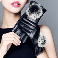Women's Winter Gloves Full Finger Winter Warm Rabbit Fur Woman Gloves Mittens Fashion Screen with All Phone Women Leather Gloves