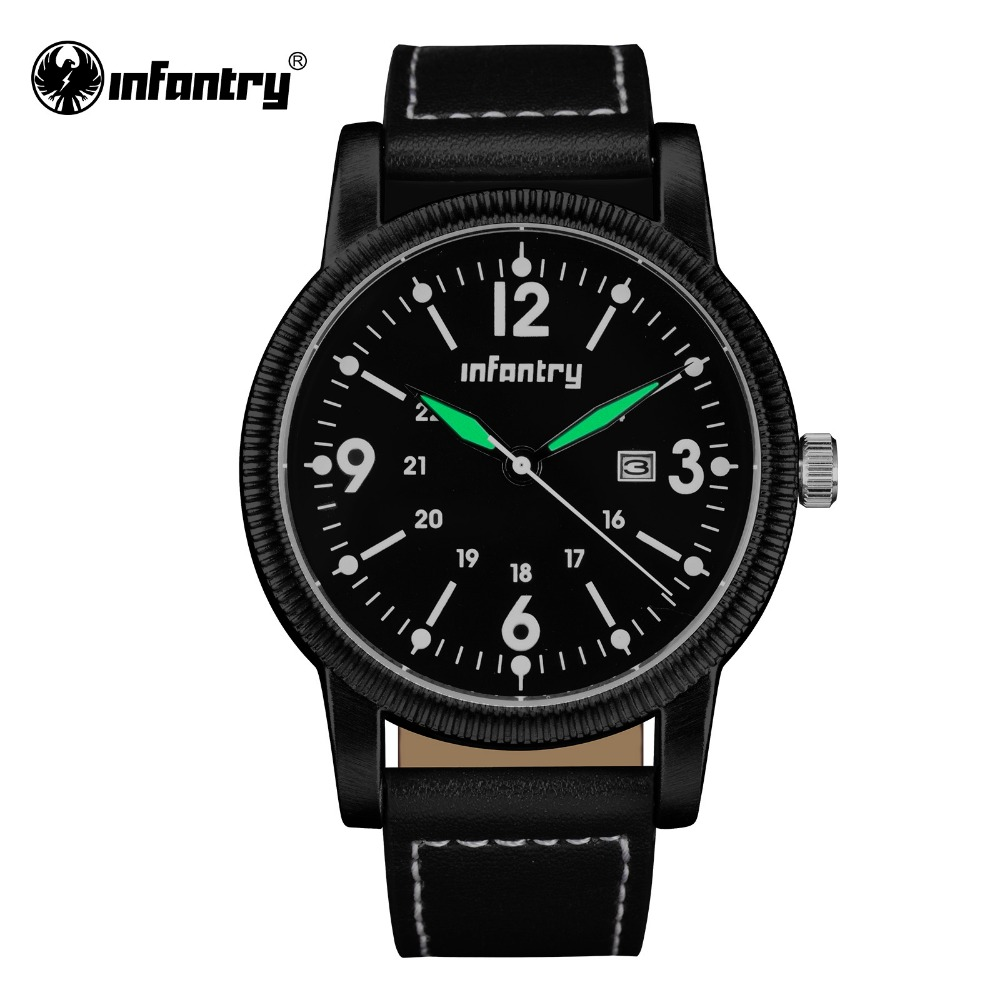 tactical watches for men us army tactical promotion shop for infantry mens quartz watches water resistant pu leather watchband relogio masculino luminous army sports tactical male clock