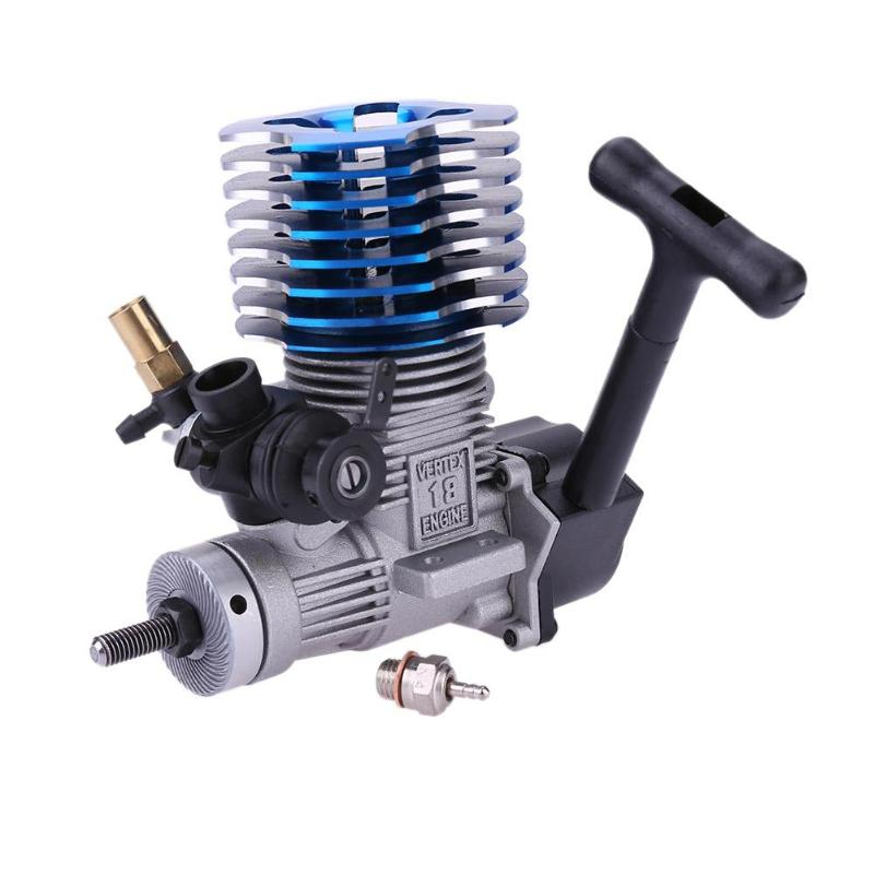 1 pcs RC car Accessories 1/10 HSP 02060 BL VX 18 Engine 2.74cc Pull Starter blue for RC 1/10 Remote Cars Accessories&props engine blue for hsp 02060 rc 1 10 1 8 on road car buggy truck original part