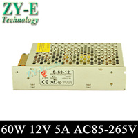 60W 12V 5A Switching Led DC Power Supply Non Waterproof Led Driver For 3528 5050 LED